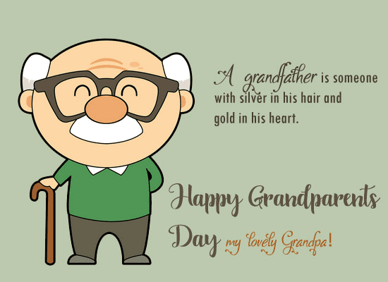 Happy Grandparents' Day Wishes png