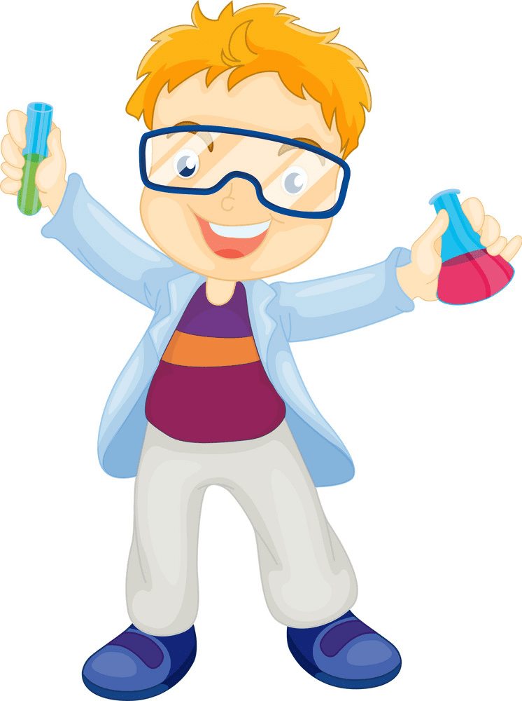 Kid Scientist clipart for free
