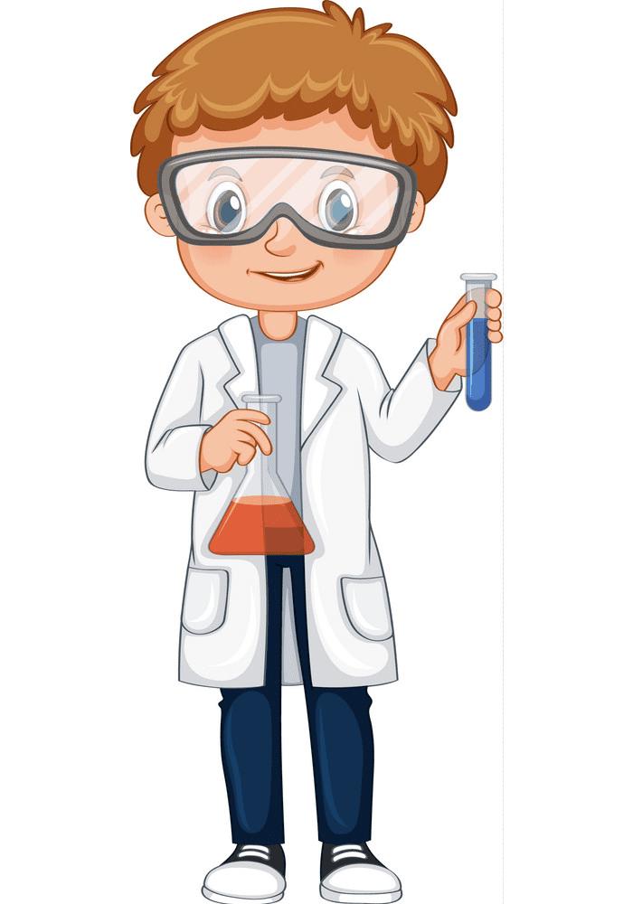 Kid Scientist clipart free