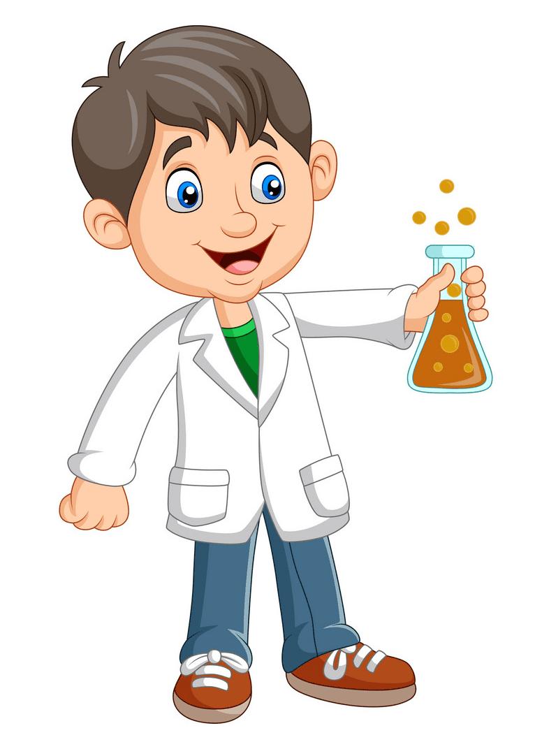 Kid Scientist clipart image