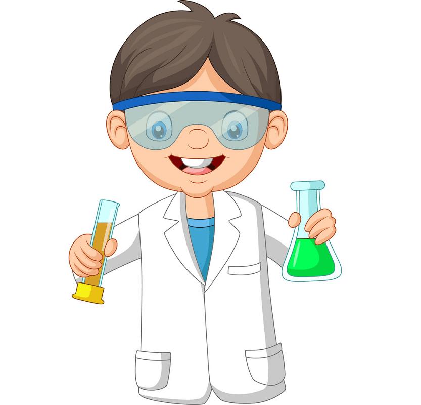 Kid Scientist clipart images
