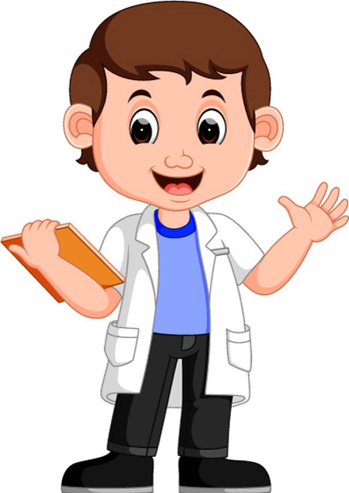 Kid Scientist clipart