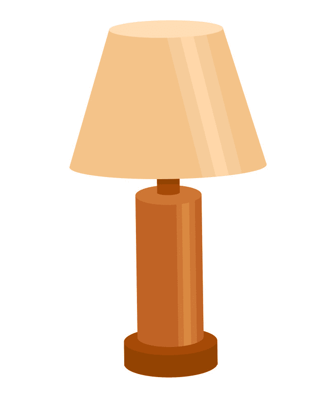 Lamp clipart free for kid