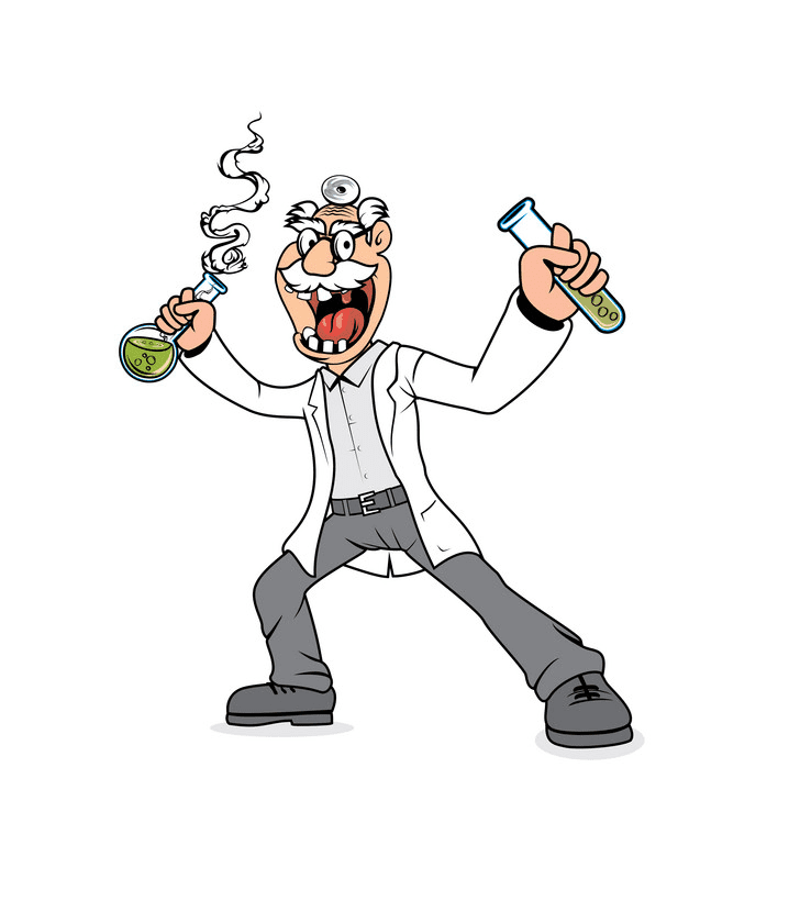 Mad Scientist clipart for kid