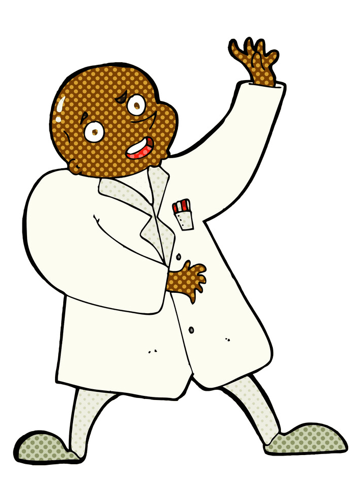 Mad Scientist clipart free images