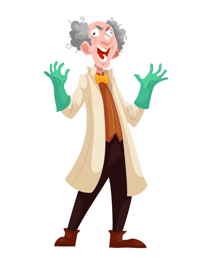 Mad Scientist clipart free picture