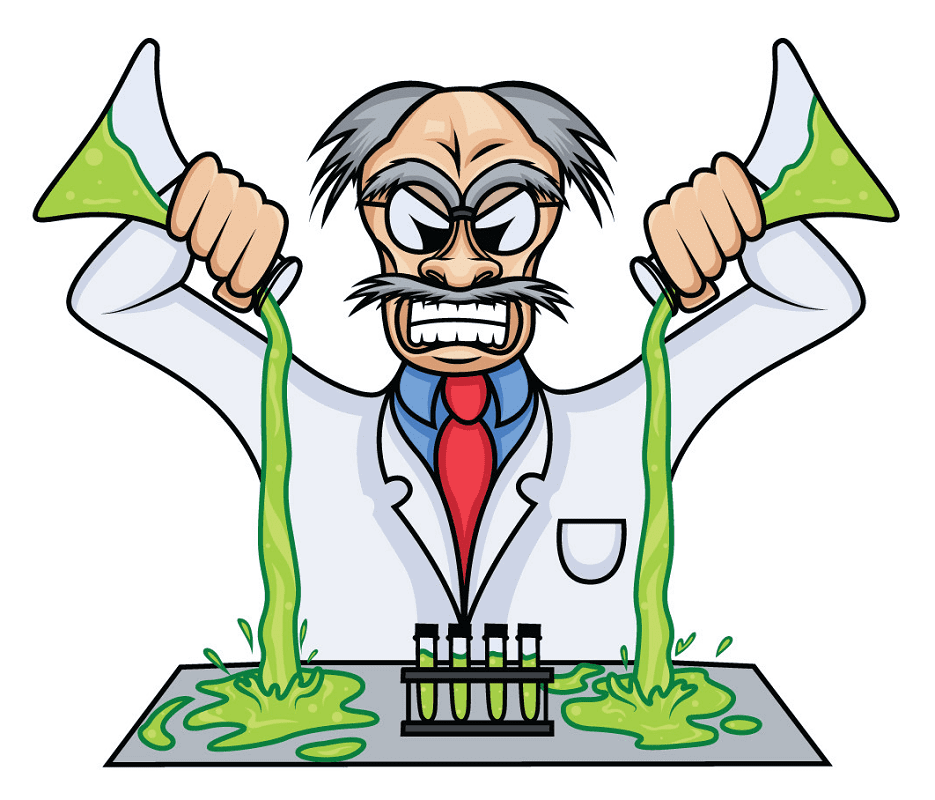 Mad Scientist clipart png image