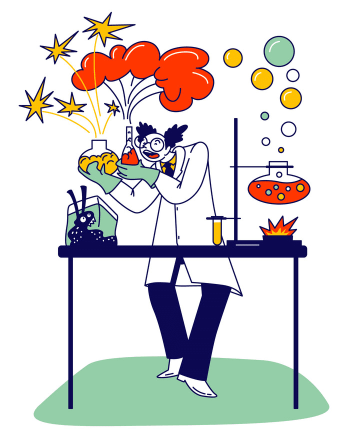 Mad Scientist clipart png images