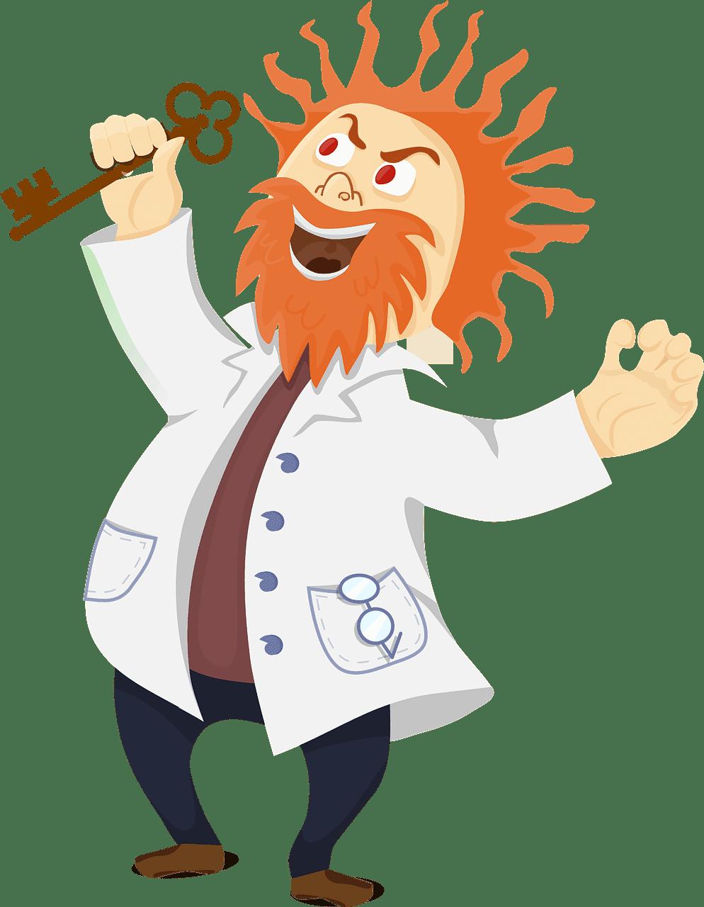 Mad Scientist clipart transparent png