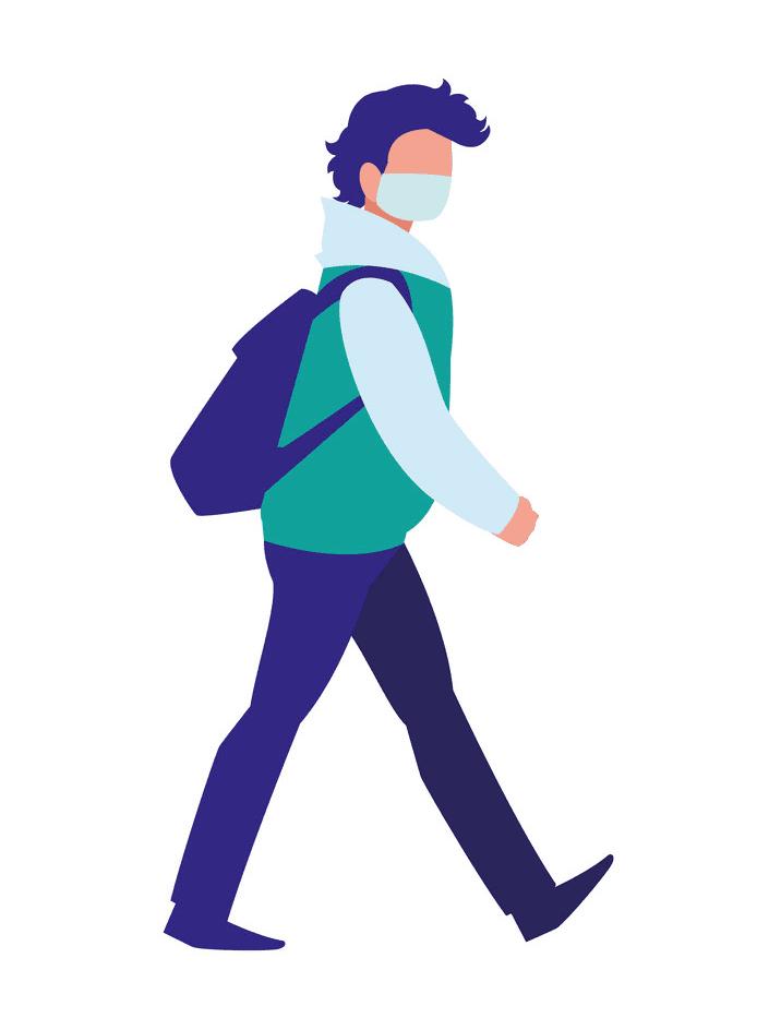 Man Walking clipart 1