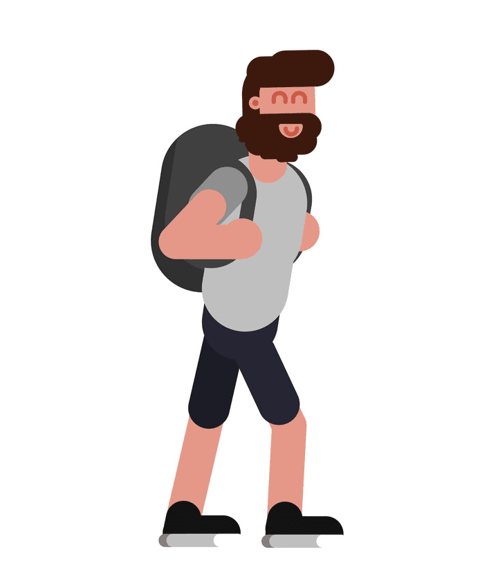 Man Walking clipart for kid