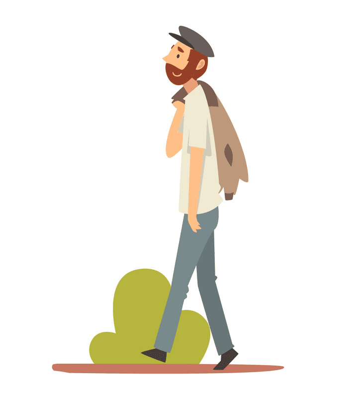 Man Walking clipart for kids