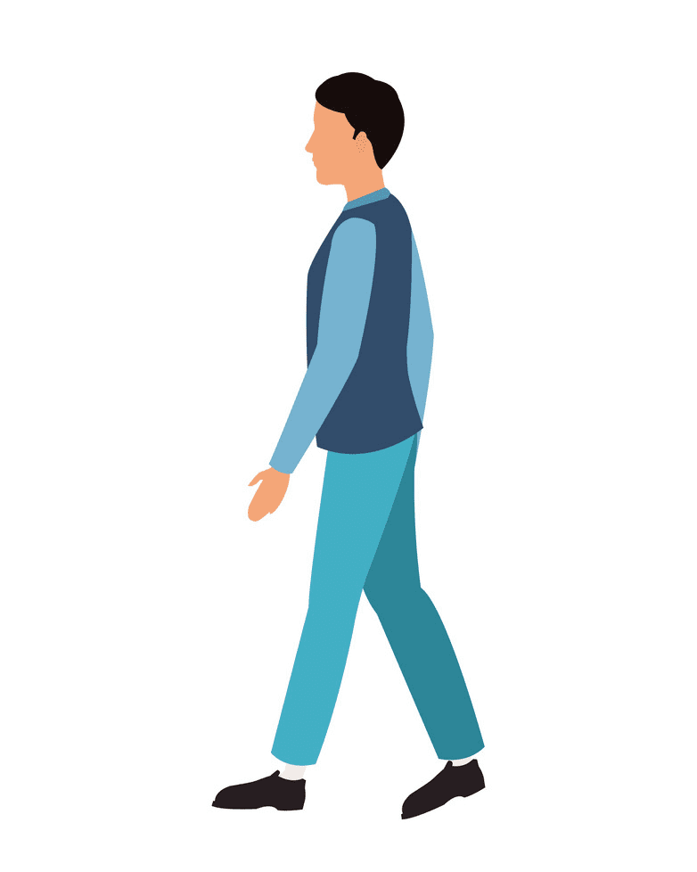 Man Walking clipart images