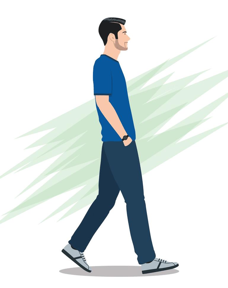 Man Walking clipart png