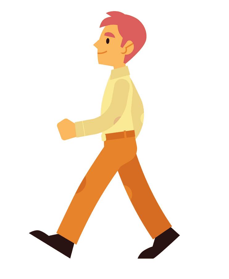 Man Walking clipart