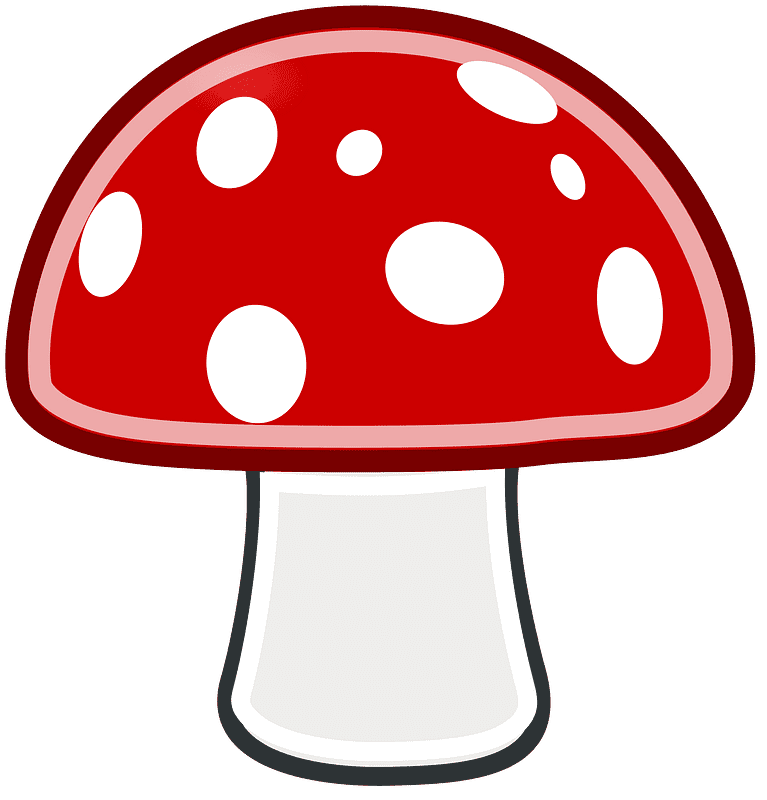 Mushroom clipart transparent background 2