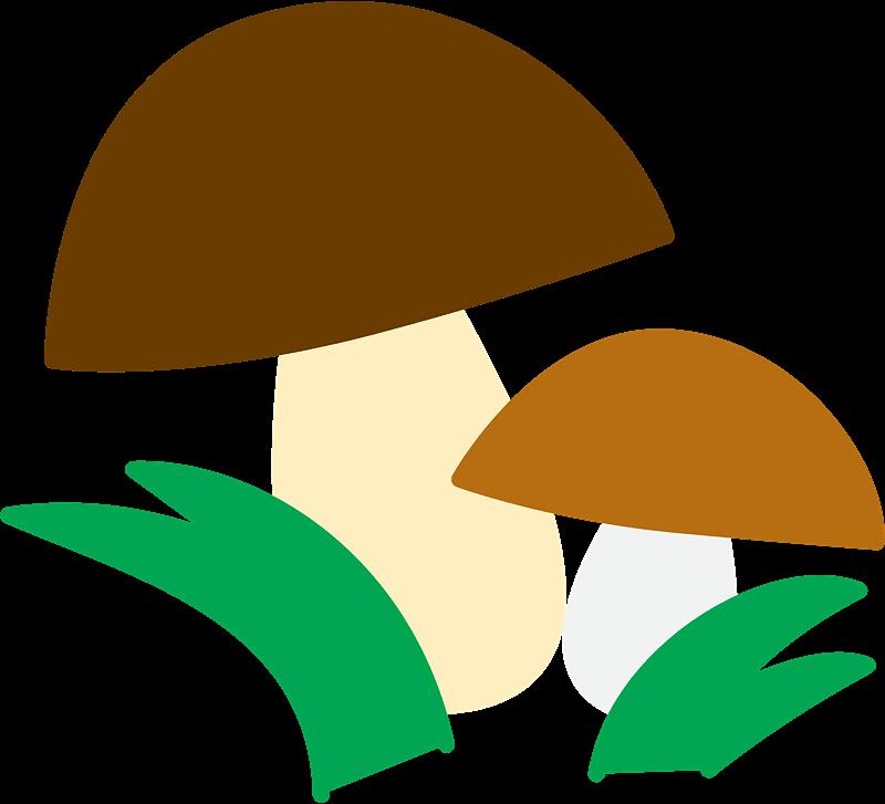Mushrooms clipart transparent 1