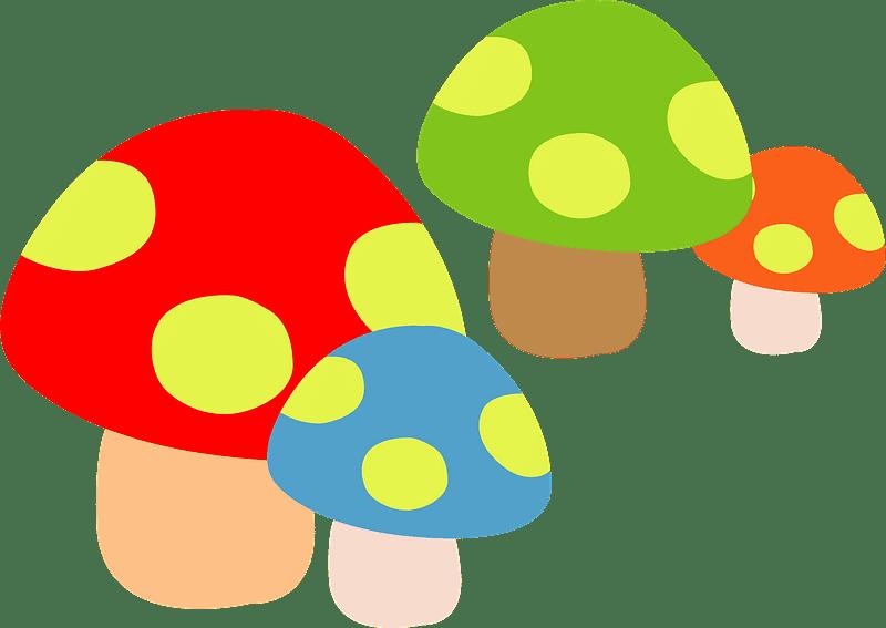 Mushrooms clipart transparent 10