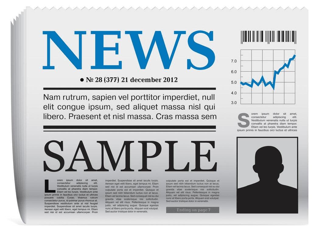 Newspaper clipart 3