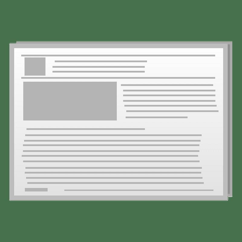 Newspaper clipart transparent 4