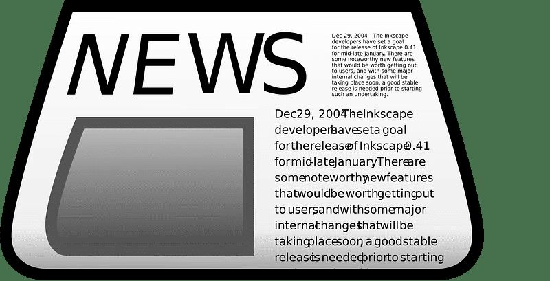 Newspaper clipart transparent 6