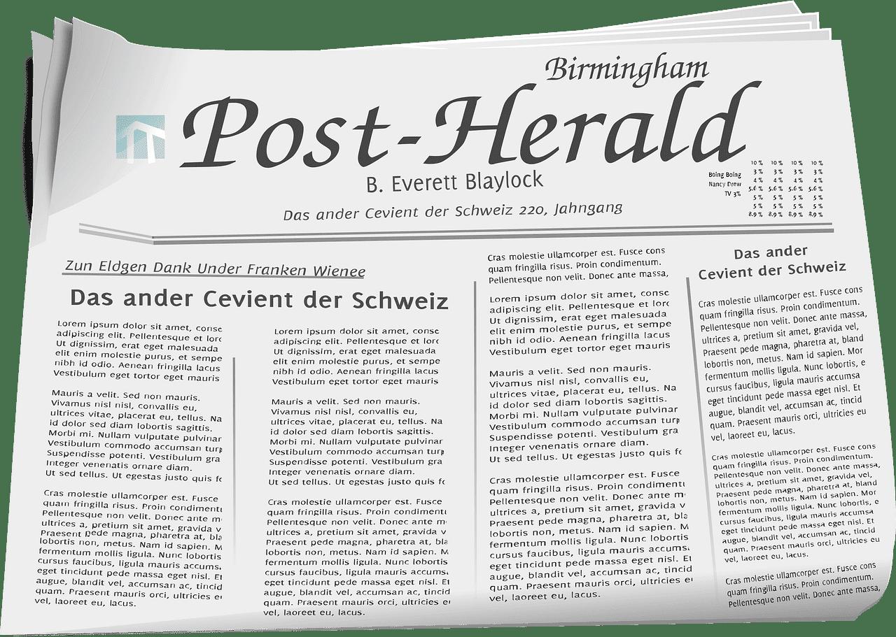 Newspaper clipart transparent 7