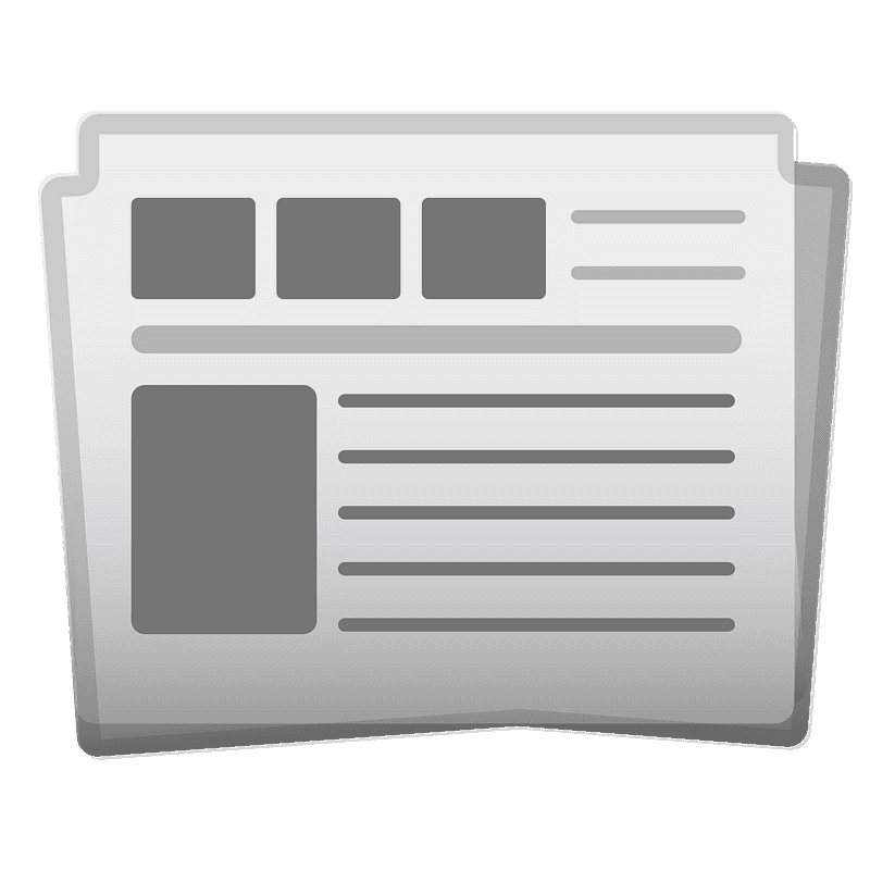 Newspaper clipart transparent background 2