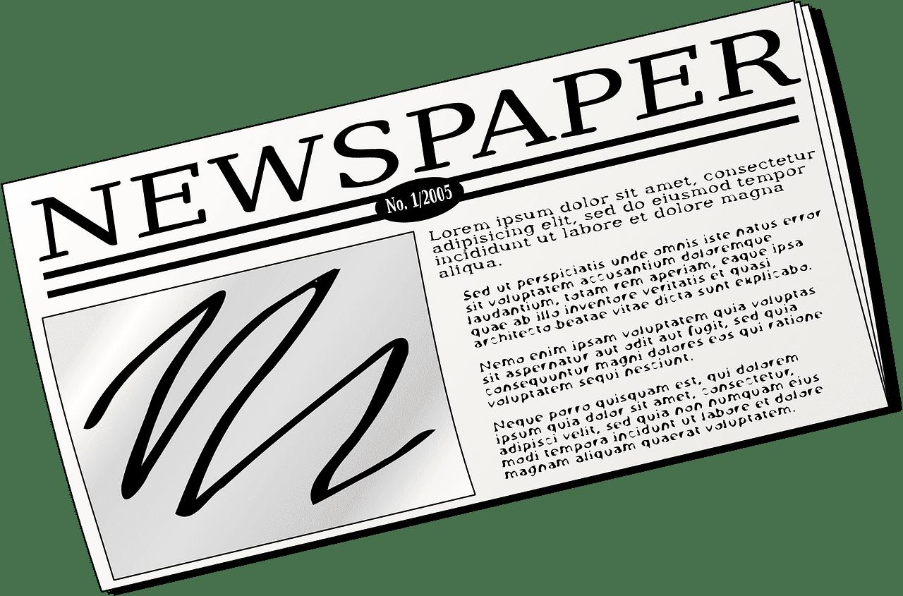 Newspaper clipart transparent background 4