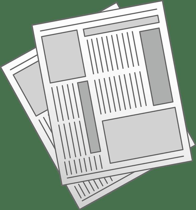 Newspaper clipart transparent picture