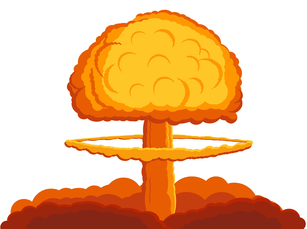 Nuclear Explosion clipart for free