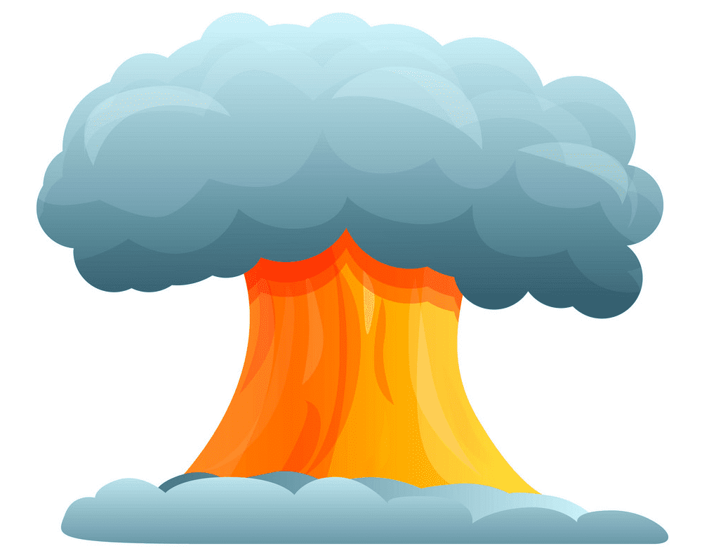 Nuclear Explosion clipart for kid