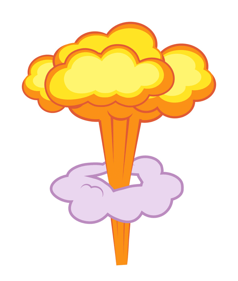 Nuclear Explosion clipart for kids