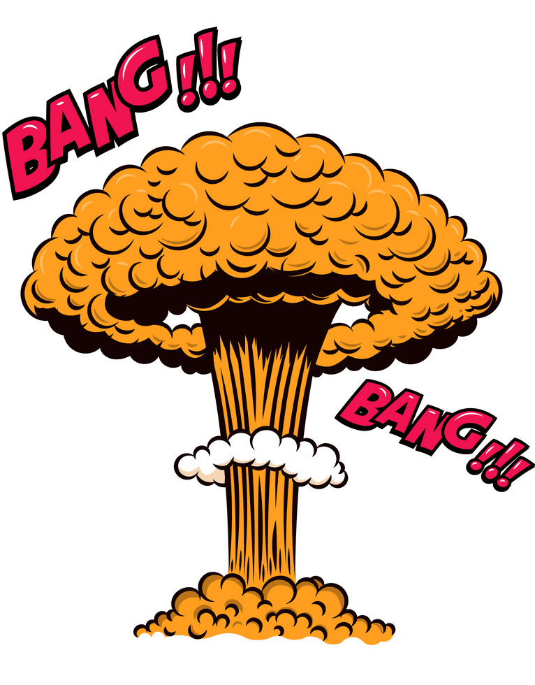Nuclear Explosion clipart free for kid