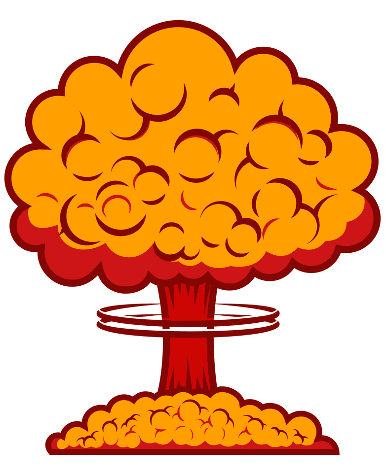 Nuclear Explosion clipart free for kids