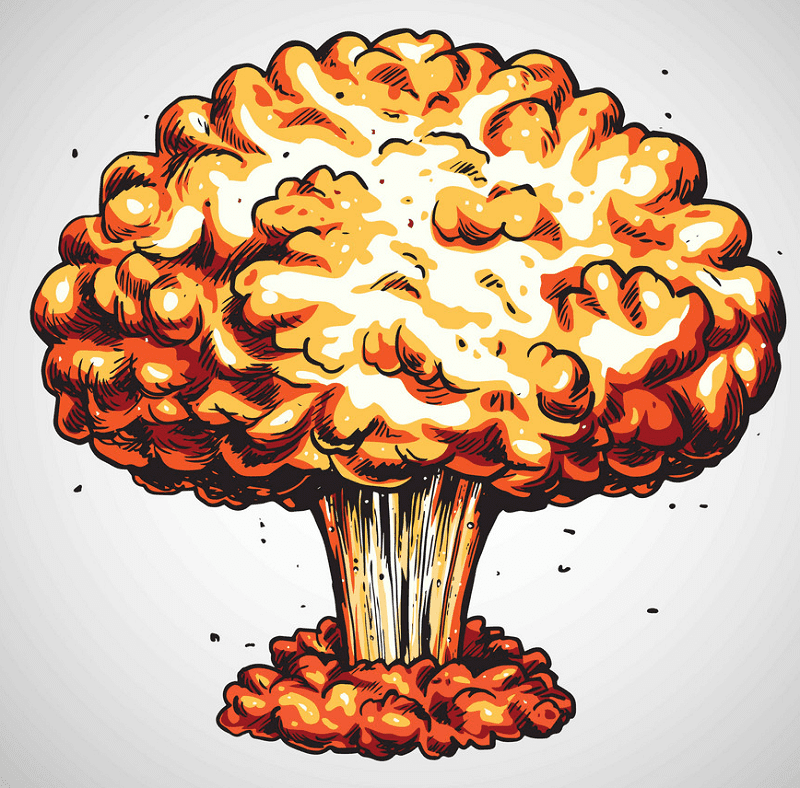 Nuclear Explosion clipart free
