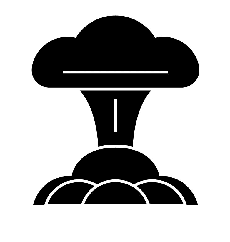 Nuclear Explosion clipart png for kid