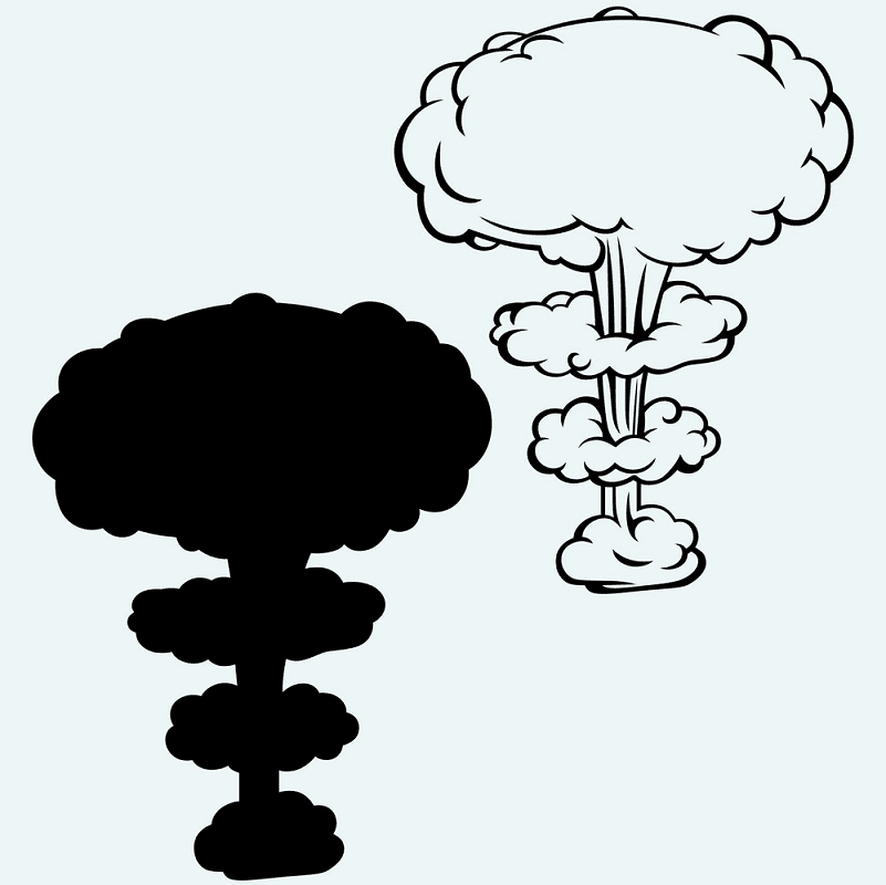 Nuclear Explosion clipart png