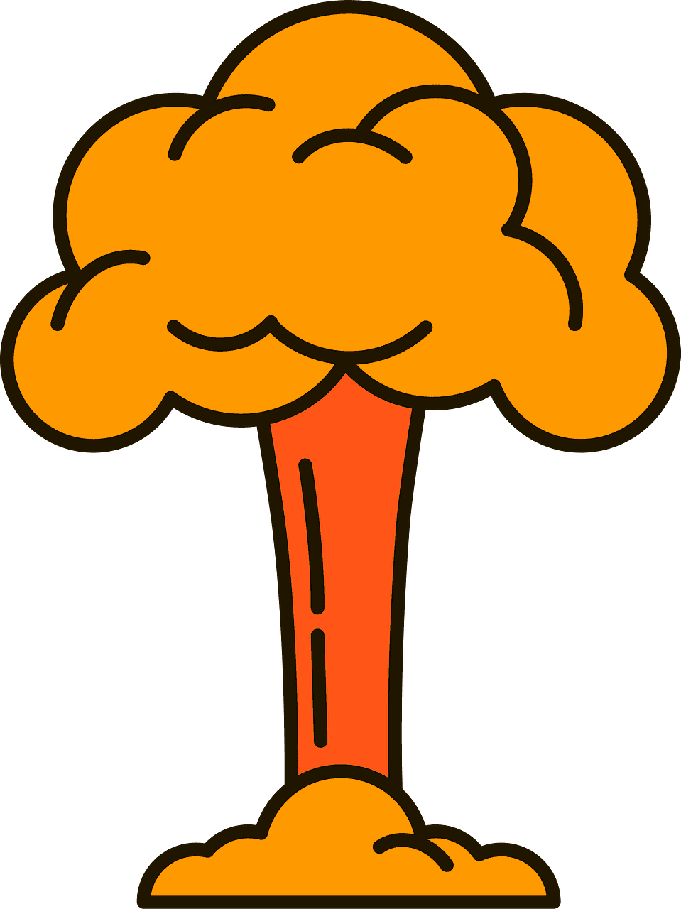 Nuclear Explosion clipart transparent 1