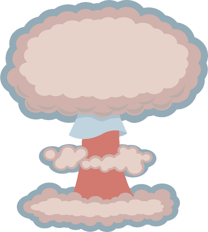 Nuclear Explosion clipart transparent 5