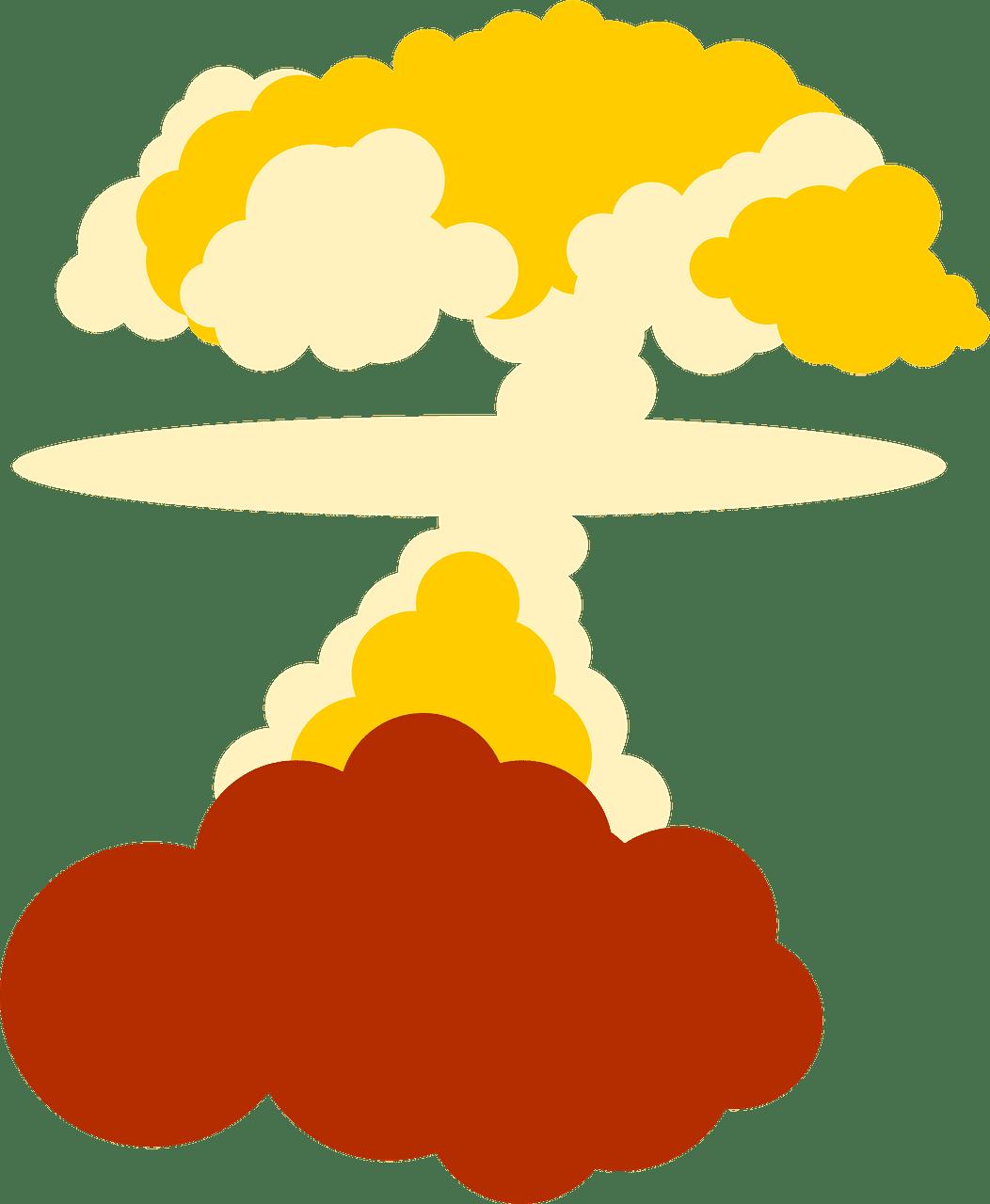 Nuclear Explosion clipart transparent 6