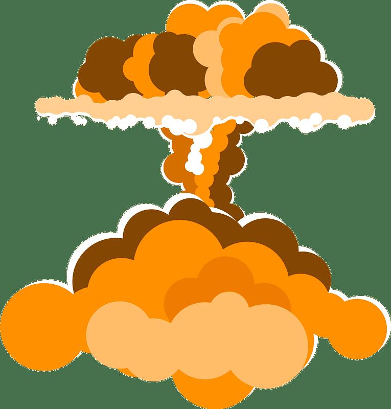 Nuclear Explosion clipart transparent 7