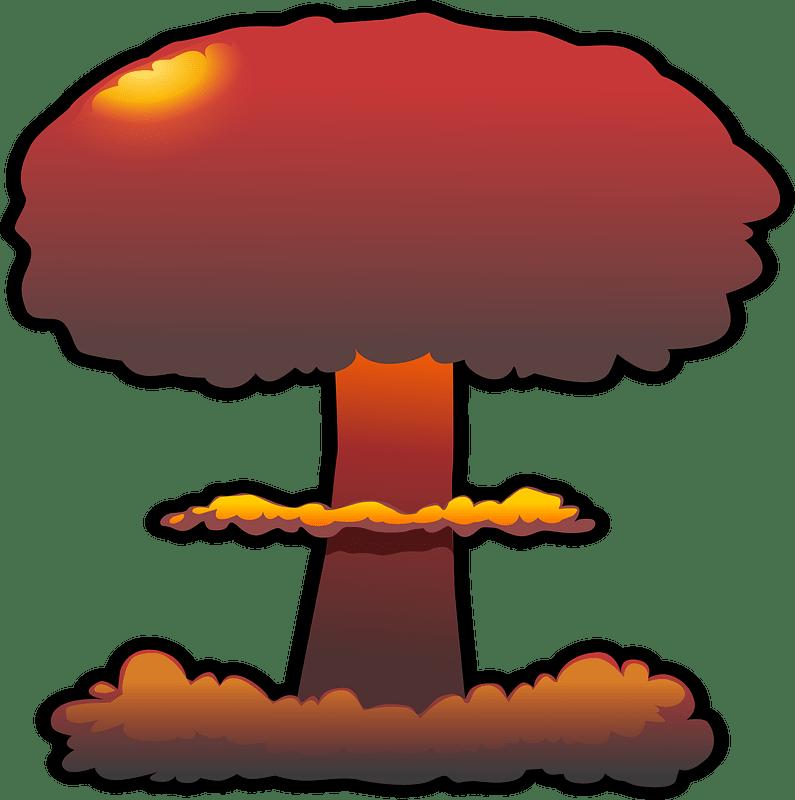 Nuclear Explosion clipart transparent 8