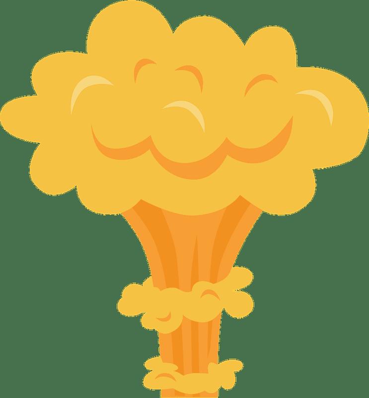 Nuclear Explosion clipart transparent