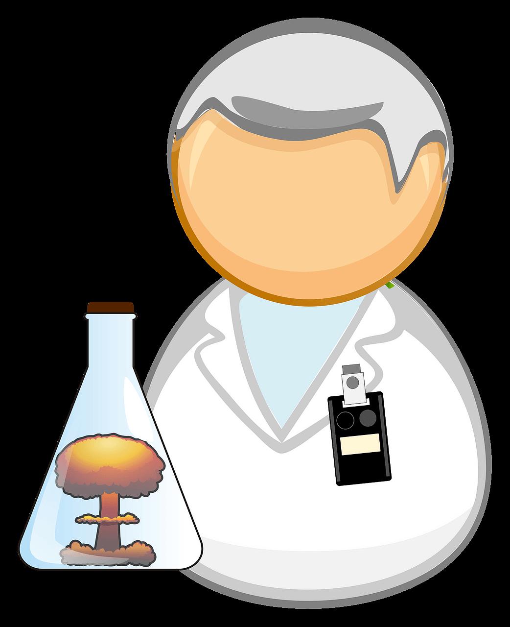 Nuclear Scientist clipart transparent