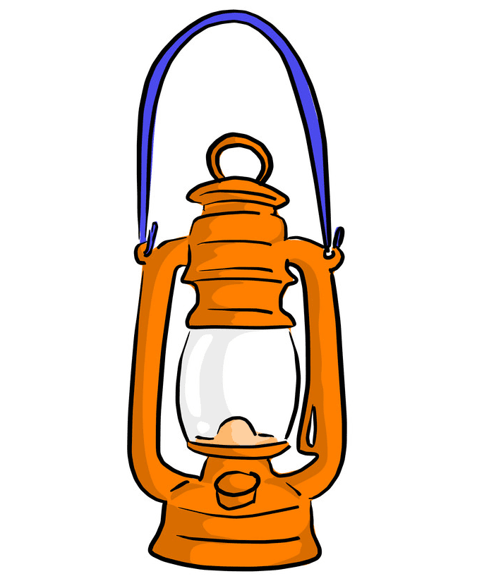 Oil Lamp clipart for free
