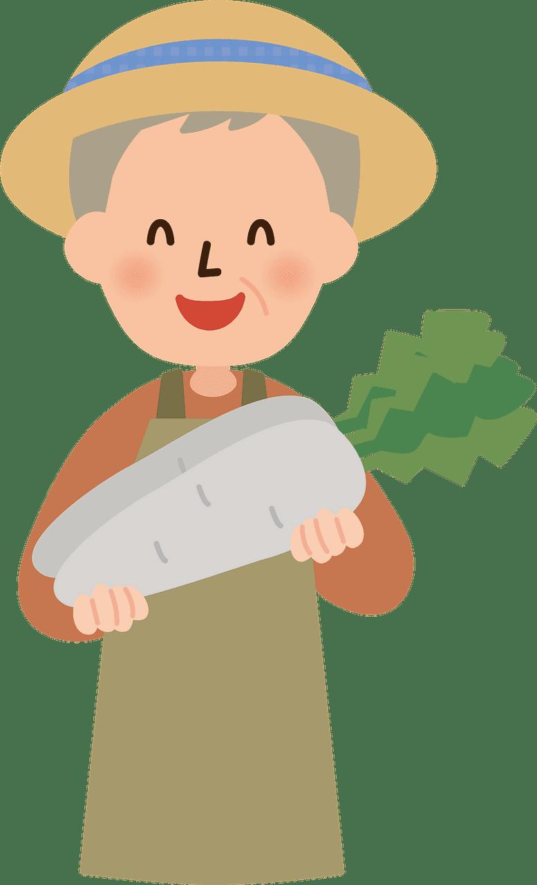 Old Farmer clipart transparent