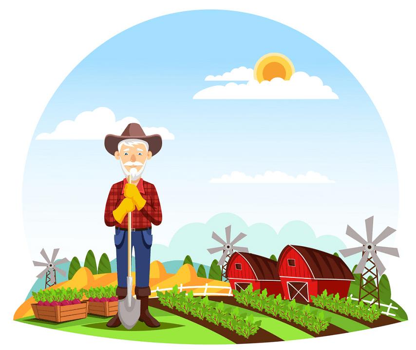 Old Farmer clipart
