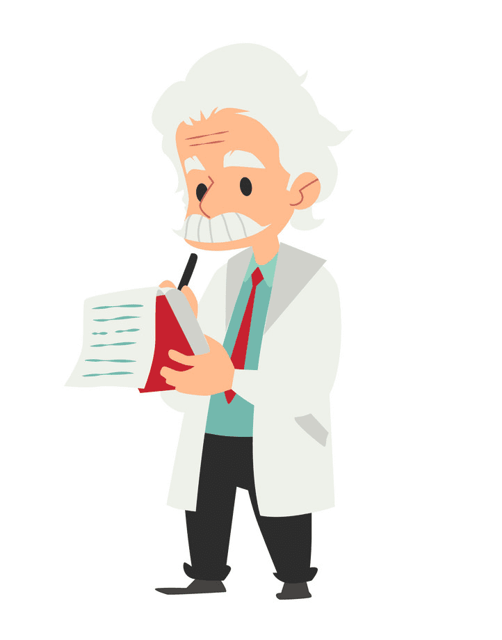 Old Scientist clipart