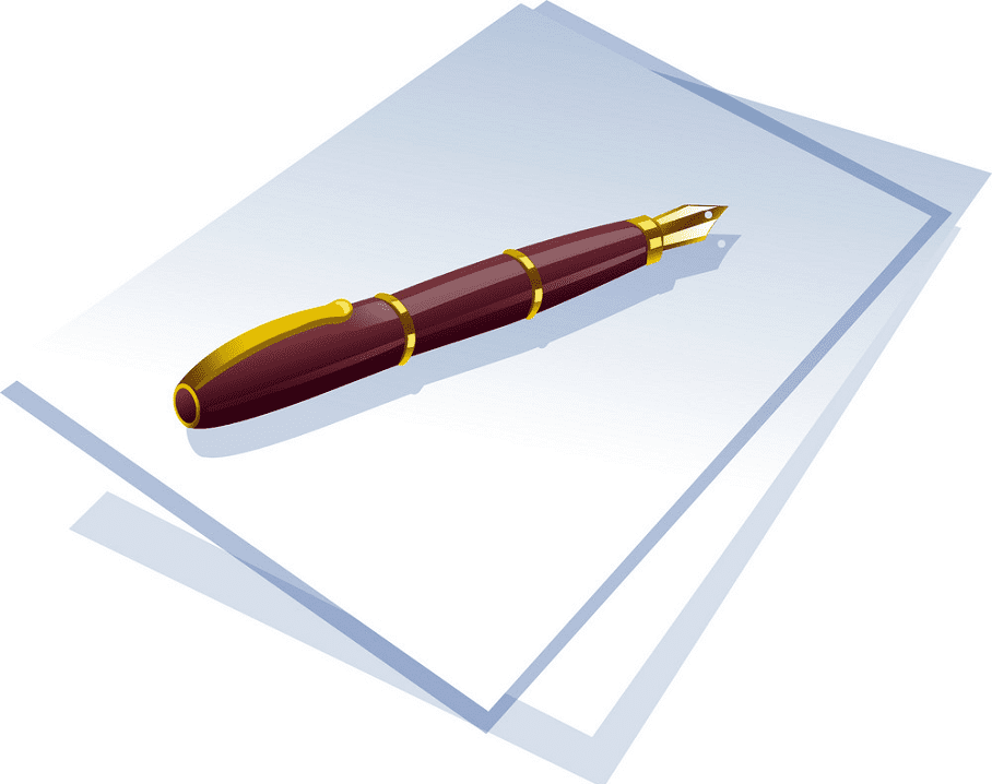 Paper and Pen clipart download