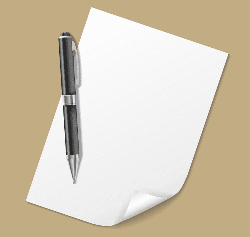 Paper and Pen clipart for free